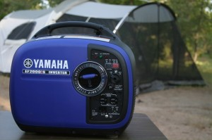 camping with Yamaha EF2000iS