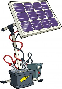 Poertable Solar Power for generators to charge batteries