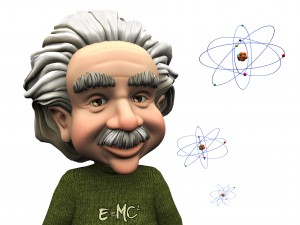 Was Einstein dreaming of portabable solar power?